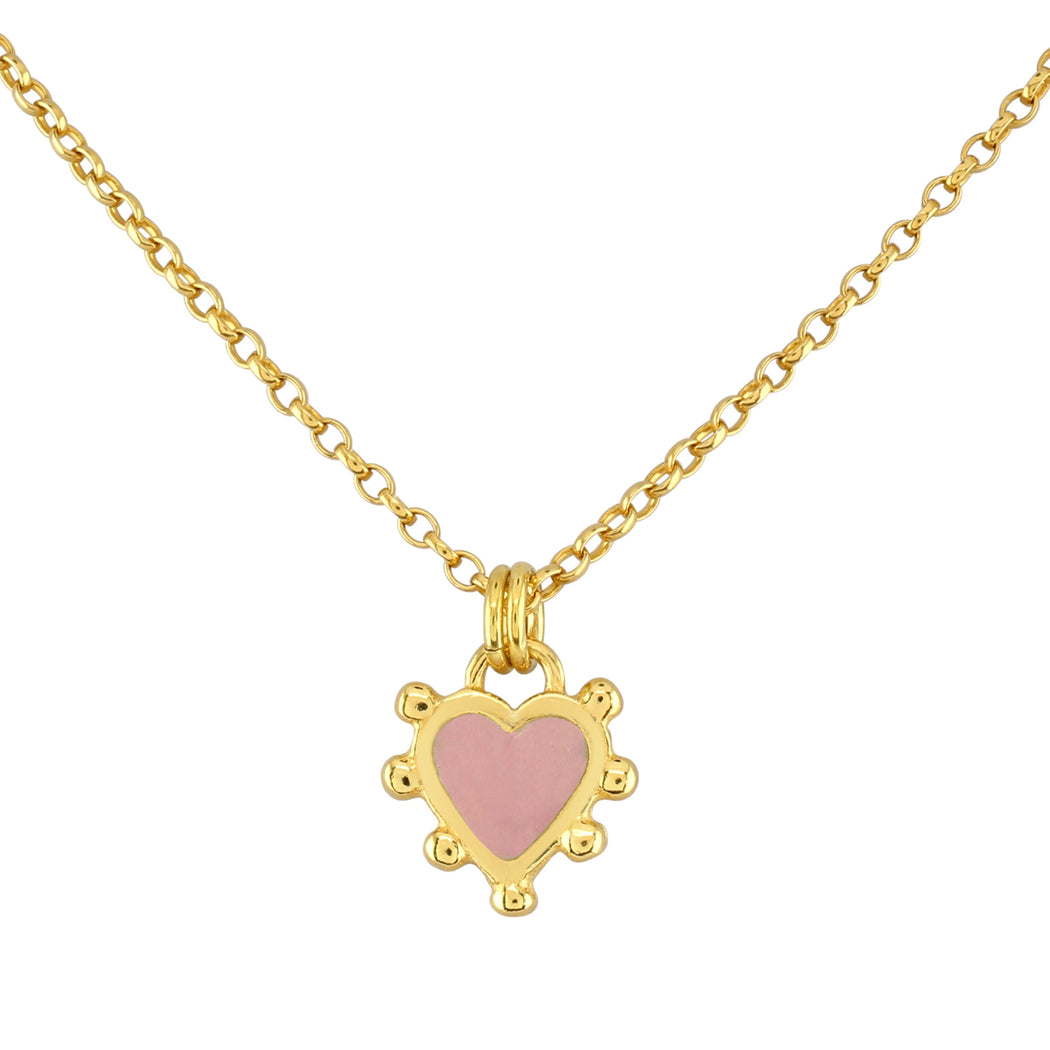 Pink Boho Heart Necklace