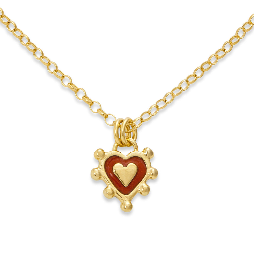 Red Sacred Heart Necklace
