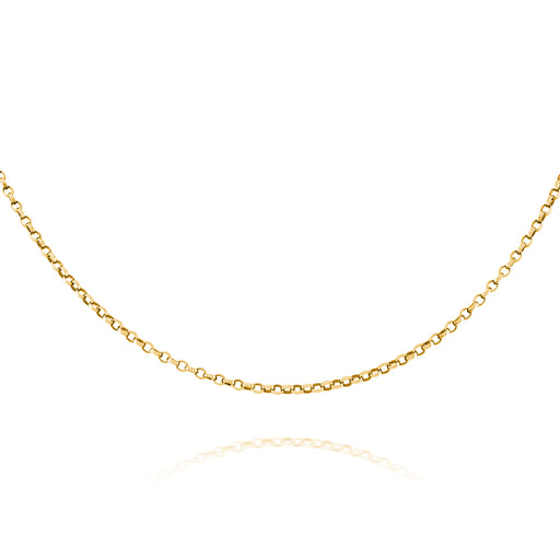 Gold Plated Extra Fine Oval Belcher Chain
