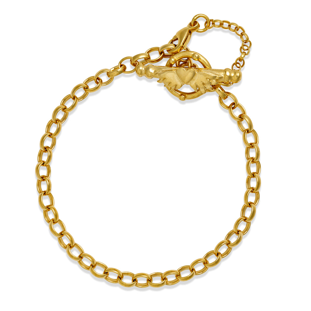 Gold Plated Medium Oval Belcher Bracelet