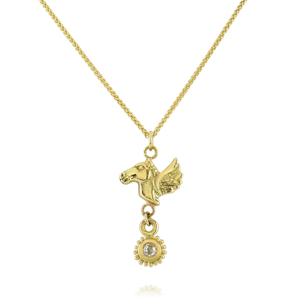 Pegasus Diamond Drop Necklace