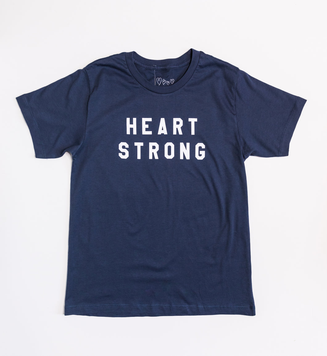 Heart Strong for Healthcare Short Sleeve - NAVY
