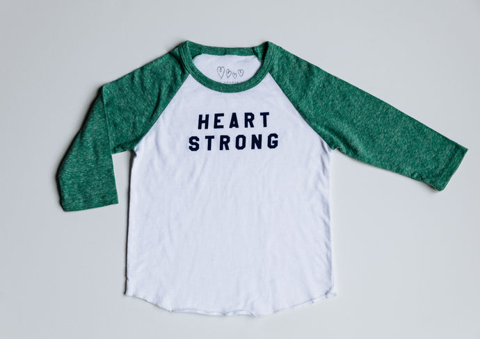 NEW Toddler Heart Strong Raglan