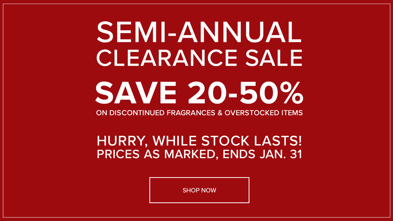 Shop the Semi-Annual Clearance Sale