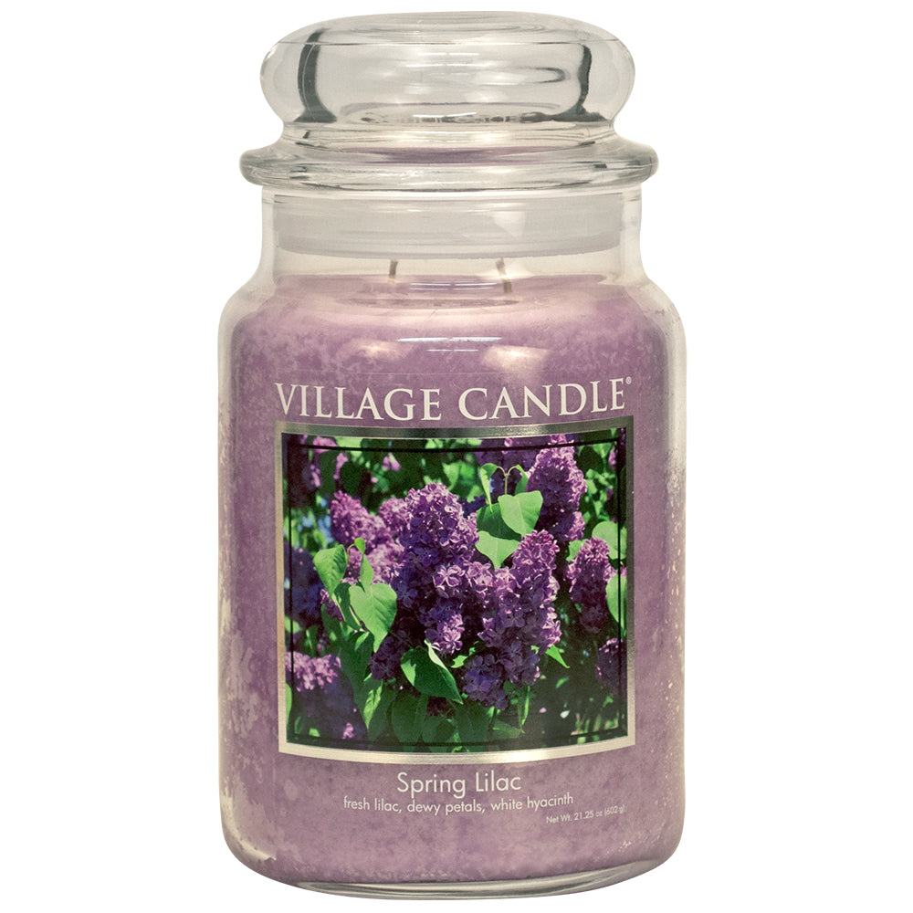 Spring Lilac Large Glass Jar Classic Scented Candle