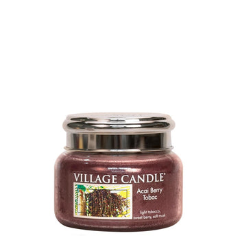 Acai Berry Tobac Small Glass Jar Traditions Man Candle