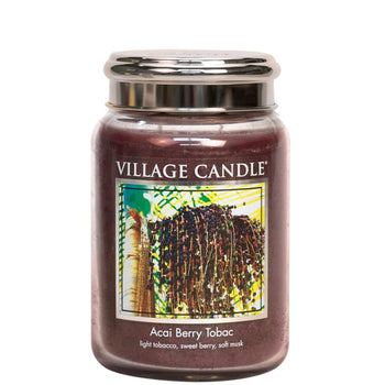 Acai Berry Tobac Large Glass Jar Traditions Man Candle