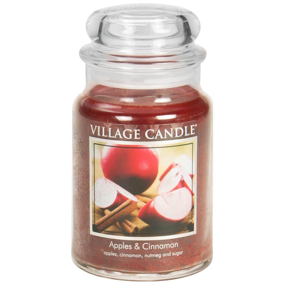 Apples & Cinnamon Large Glass Jar Traditions Scented Candle