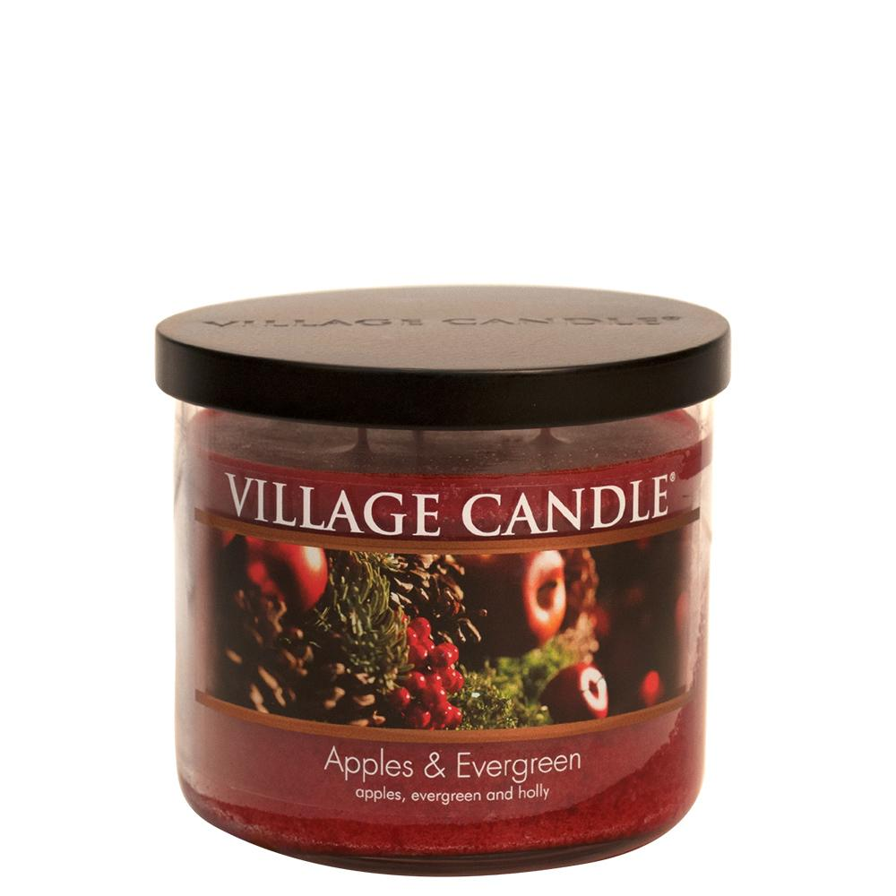 Apples & Evergreen Medium Bowl Decor Scented Candle