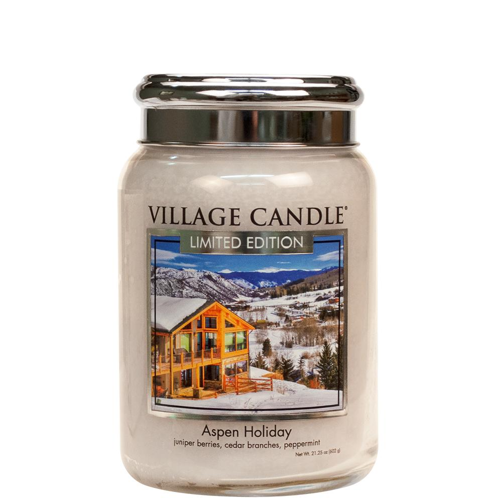 Aspen Holiday Large Glass Jar Limited Edition ML