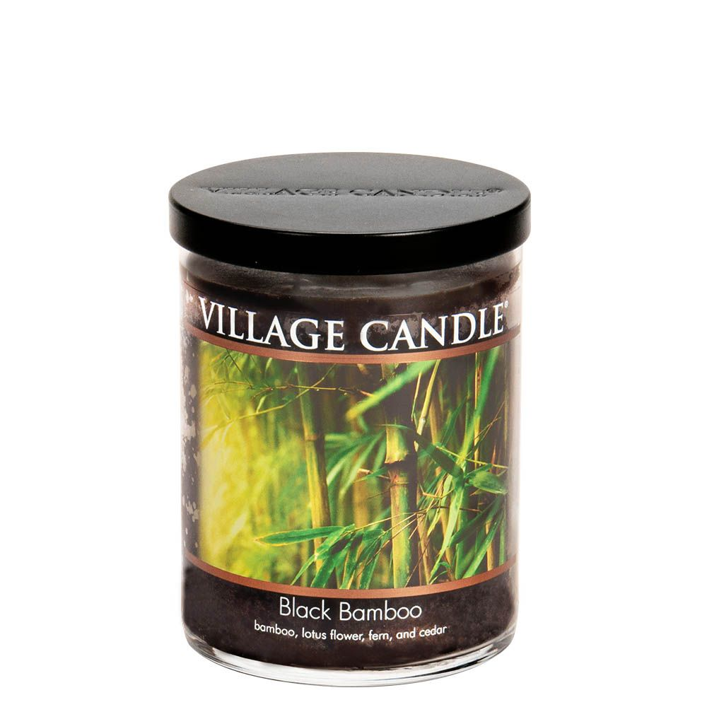 Black Bamboo Medium Tumbler Decor Scented Candle
