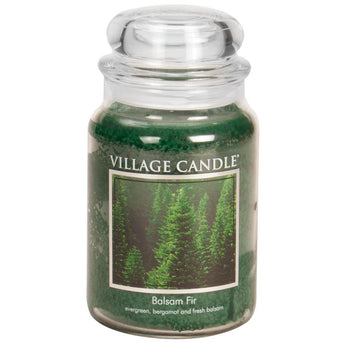 Balsam Fir Large Glass Jar Traditions Scented Candle