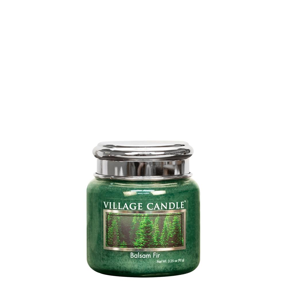 Balsam Fir Petite Glass Jar Metal Lid