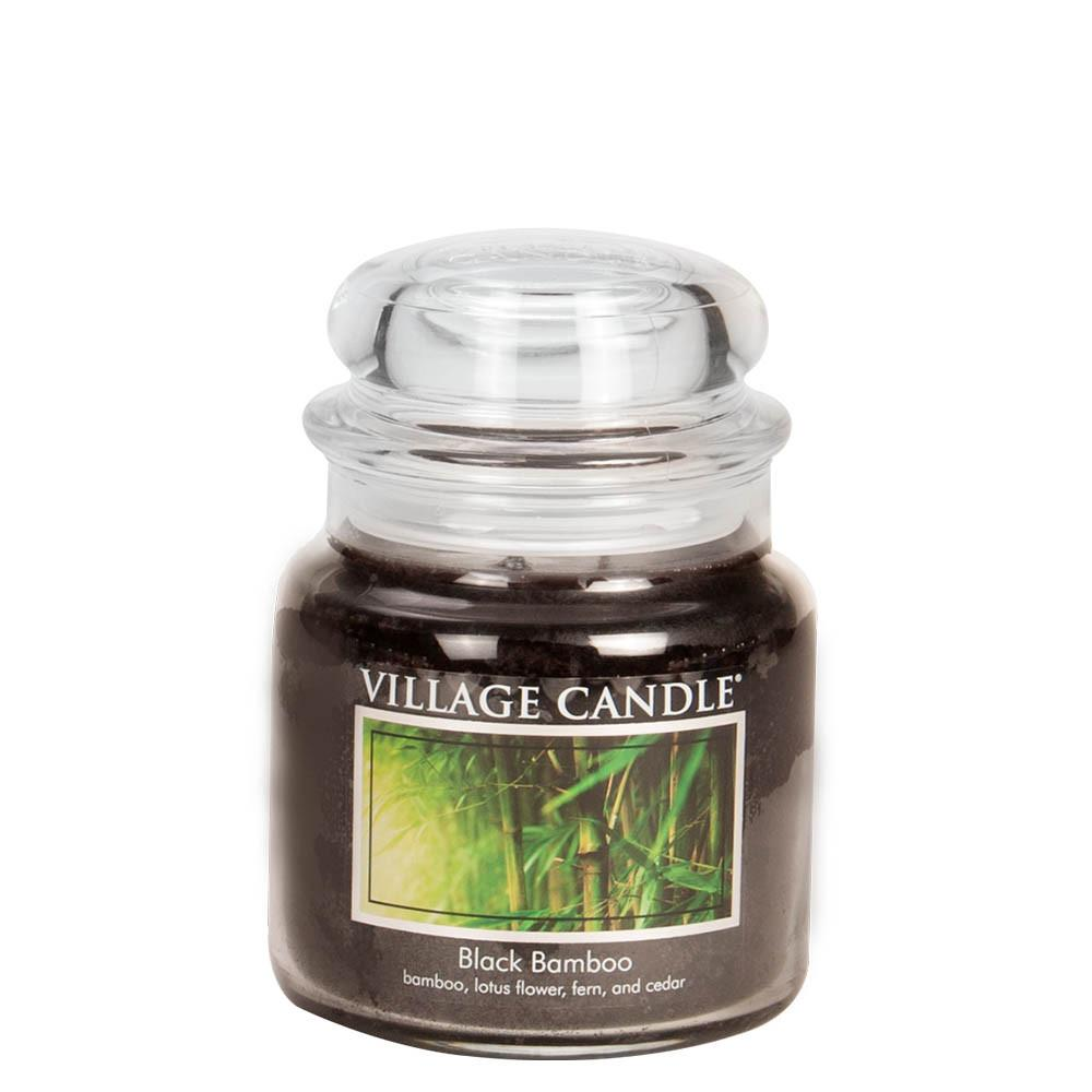 Black Bamboo Medium Glass Jar Traditions Scented Candle