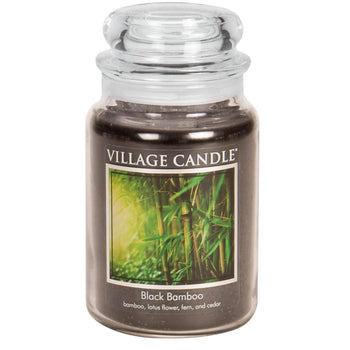 Black Bamboo Large Glass Jar Traditions Scented Candle