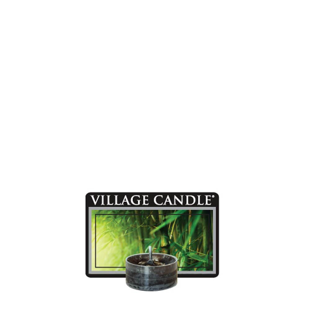 Black Bamboo Tea Lights Traditions Scented Candle