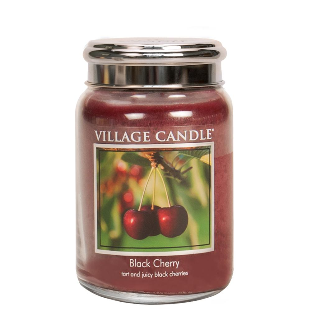 Black Cherry Large Glass Jar Traditions Scented Candle