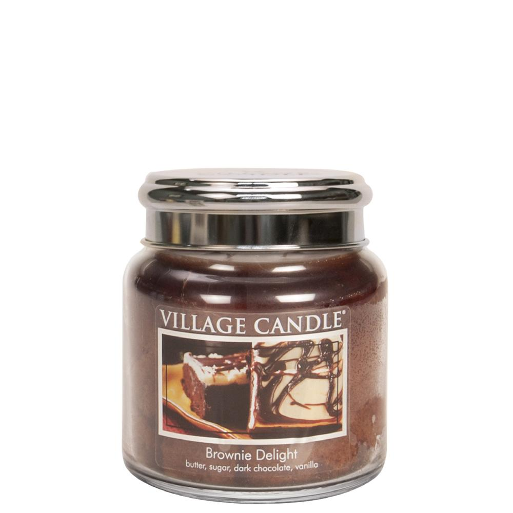 Brownie Delight Medium Glass Jar Traditions Scented Candle