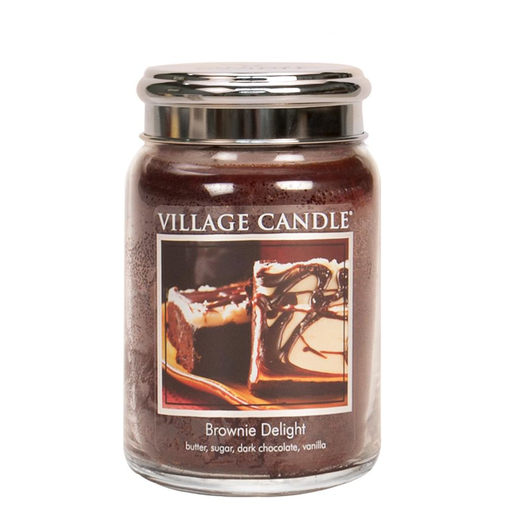 Brownie Delight Large Glass Jar Traditions Scented Candle