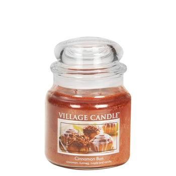 Cinnamon Bun Medium Glass Jar Traditions Scented Candle