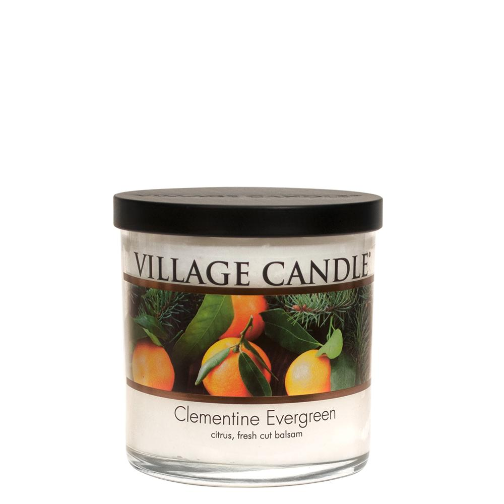 Clementine Evergreen Small Tumbler Decor| Village Candle