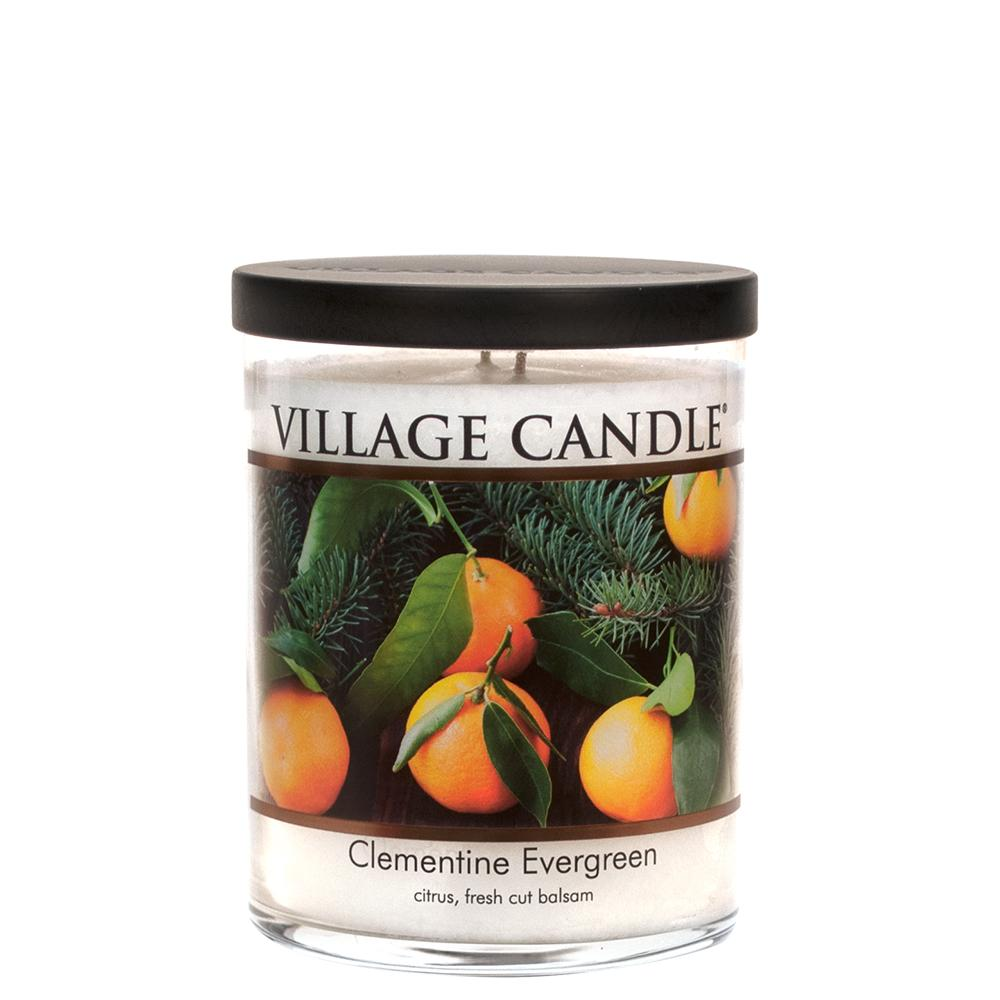 Clementine Evergreen Medium Tumbler Decor| Village Candle