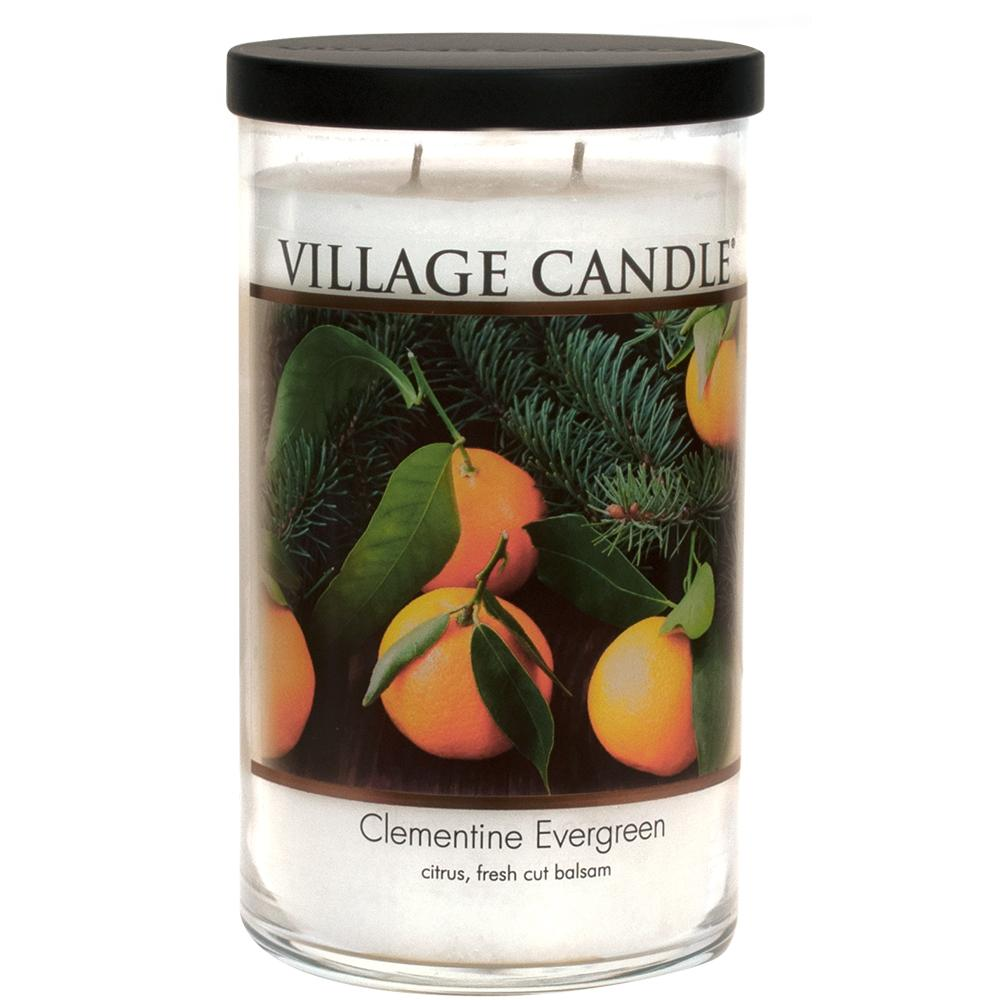 Clementine Evergreen Large Tumbler Decor| Village Candle