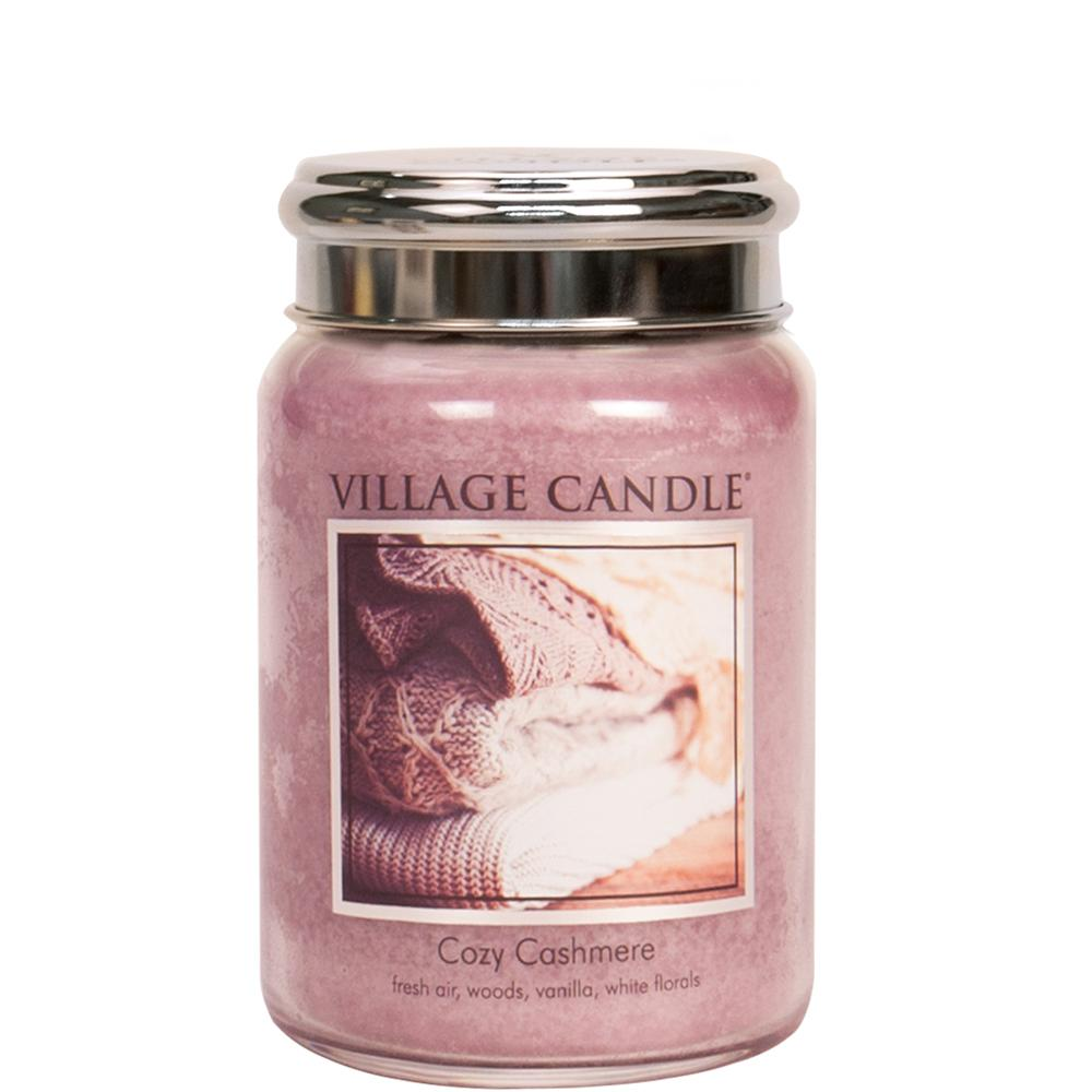 Cozy Cashmere Large Glass Jar Traditions Scented Candle