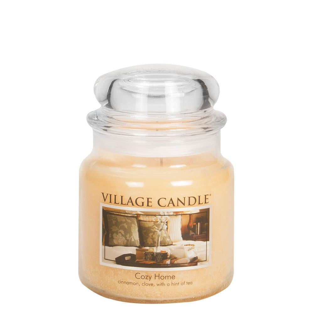 Cozy Home Medium Glass Jar Traditions Scented Candle