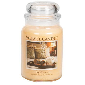 Cozy Home Large Glass Jar Traditions Scented Candle