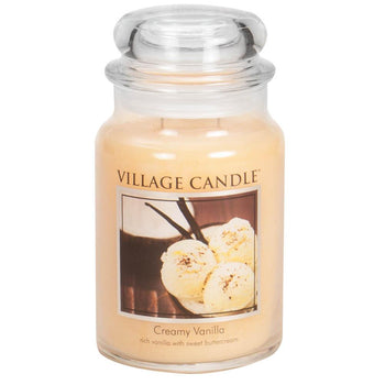 Creamy Vanilla Large Glass Jar Traditions