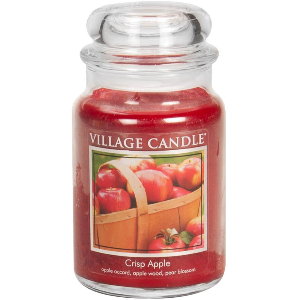 Crisp Apple Large Glass Jar Traditions Scented Candle