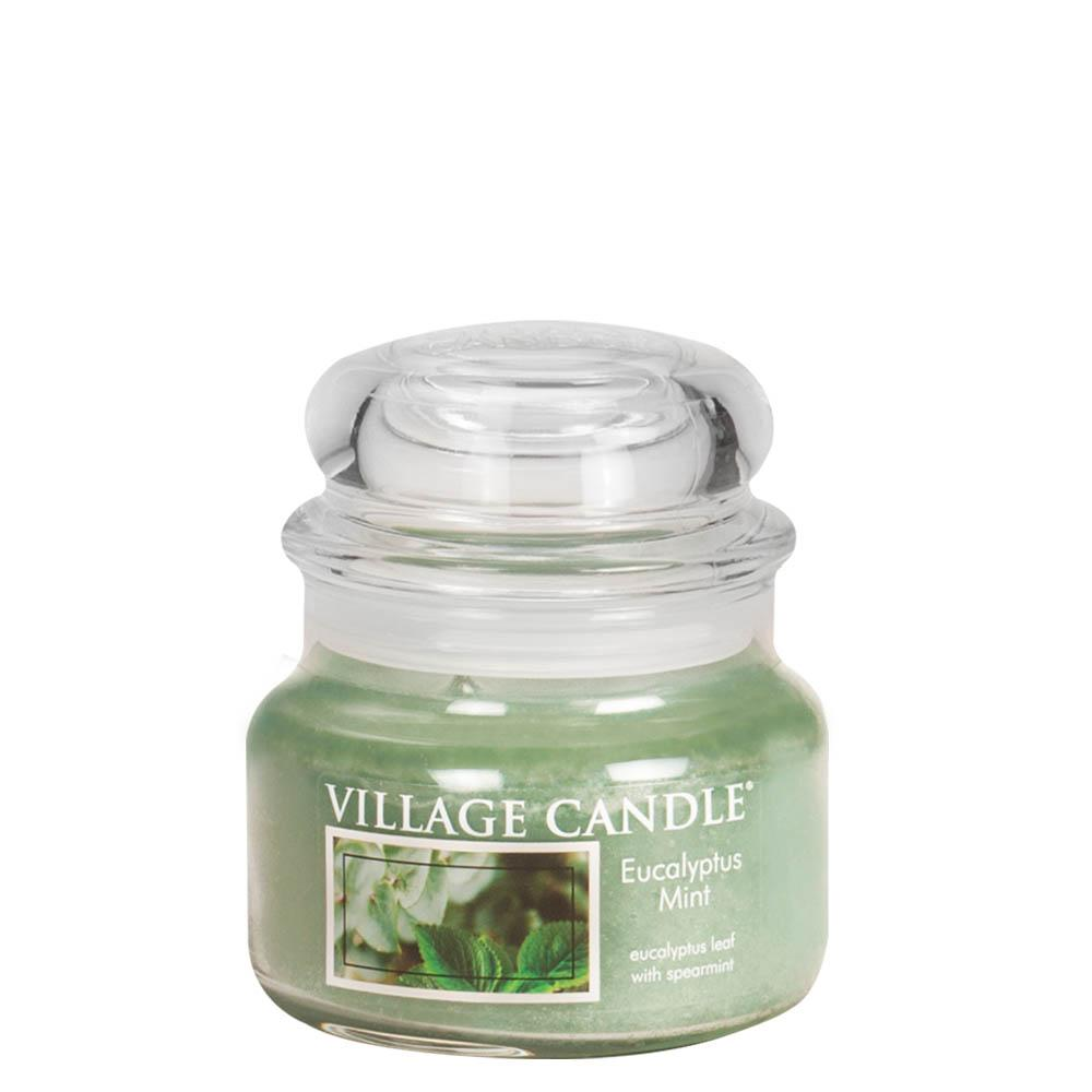 Eucalyptus Mint Small Glass Jar Traditions Scented Candle