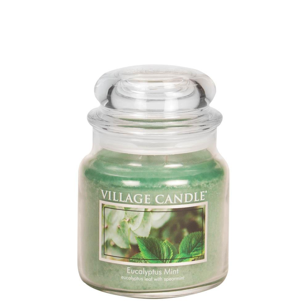 Eucalyptus Mint Medium Glass Jar Traditions Scented Candle