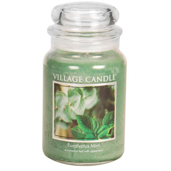 Eucalyptus Mint Large Glass Jar Traditions Scented Candle