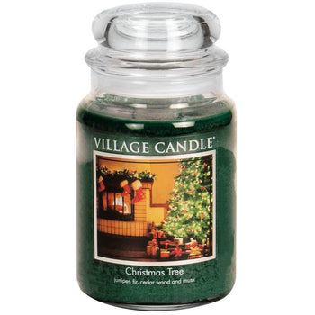 Christmas Tree Large Glass Jar Traditions Scented Candle