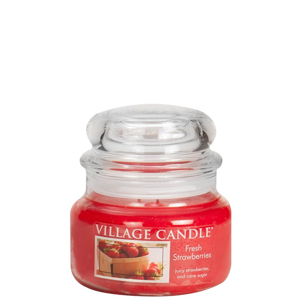 Fresh Strawberries Small Glass Jar Traditions Scented Candle