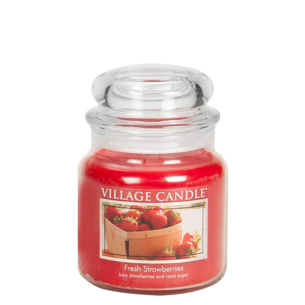 Fresh Strawberries Medium Glass Jar Traditions Scented Candle