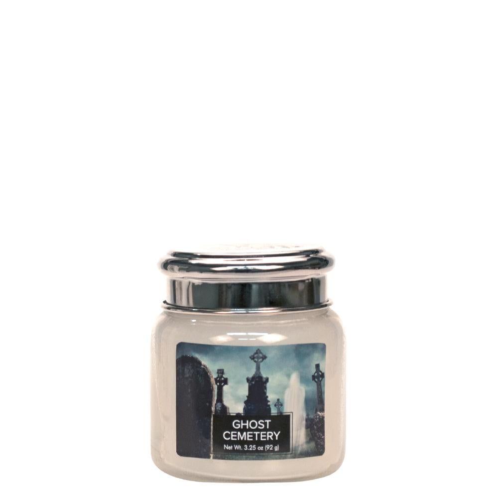 Ghost Cemetery Petite Glass Jar Halloween