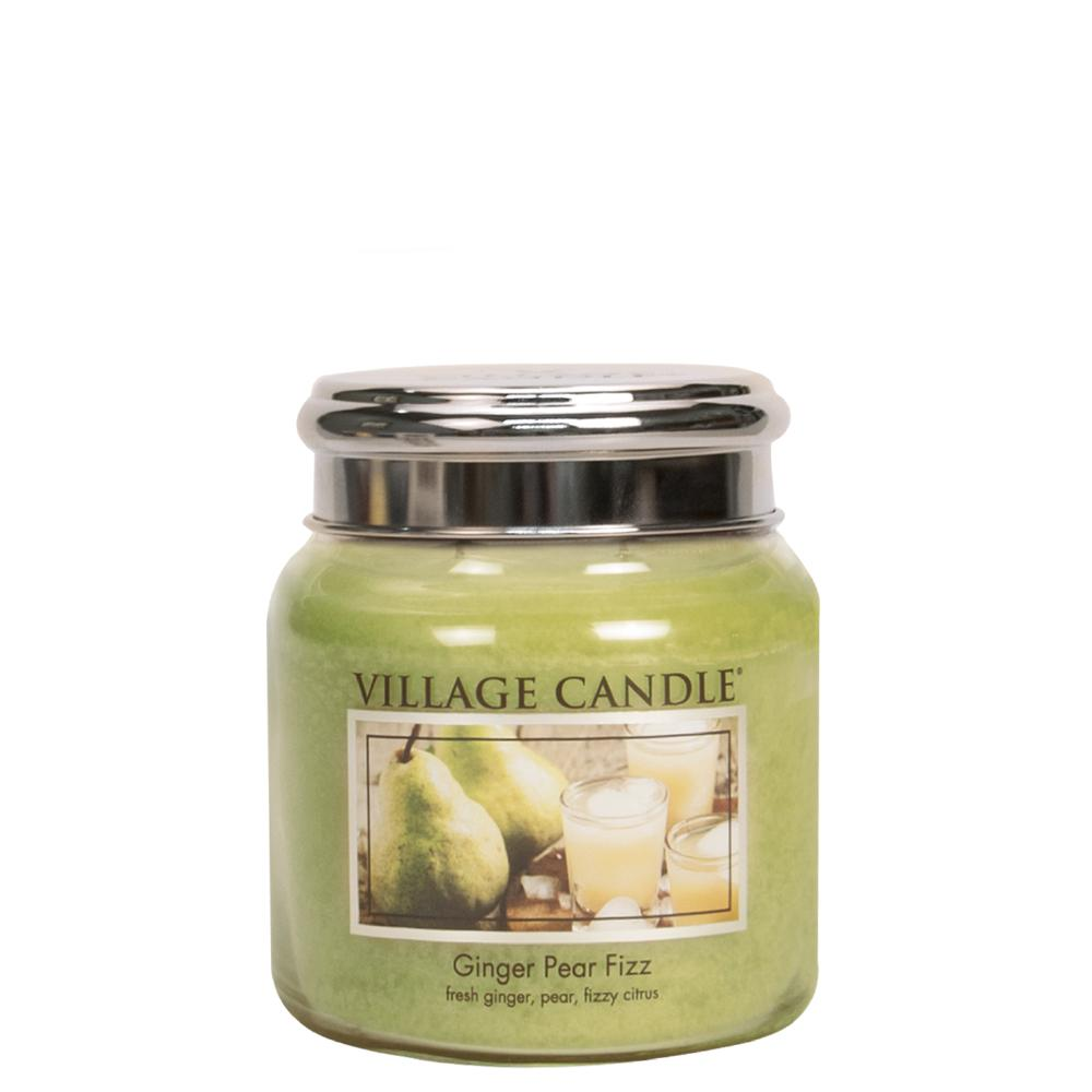 Ginger Pear Fizz Medium Glass Jar Traditions Scented Candle