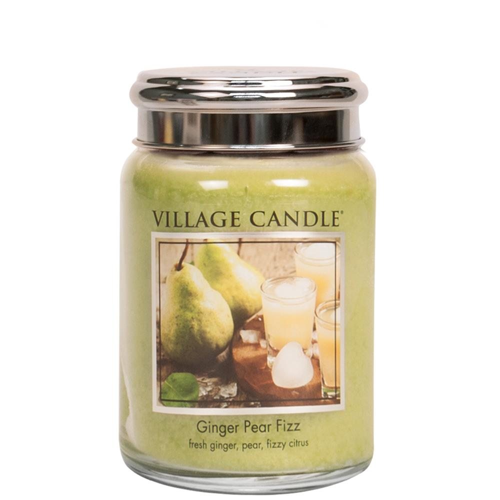 Ginger Pear Fizz Large Glass Jar Traditions Scented Candle