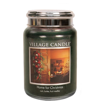 Home For Christmas Large Glass Jar Traditions Scented Candle