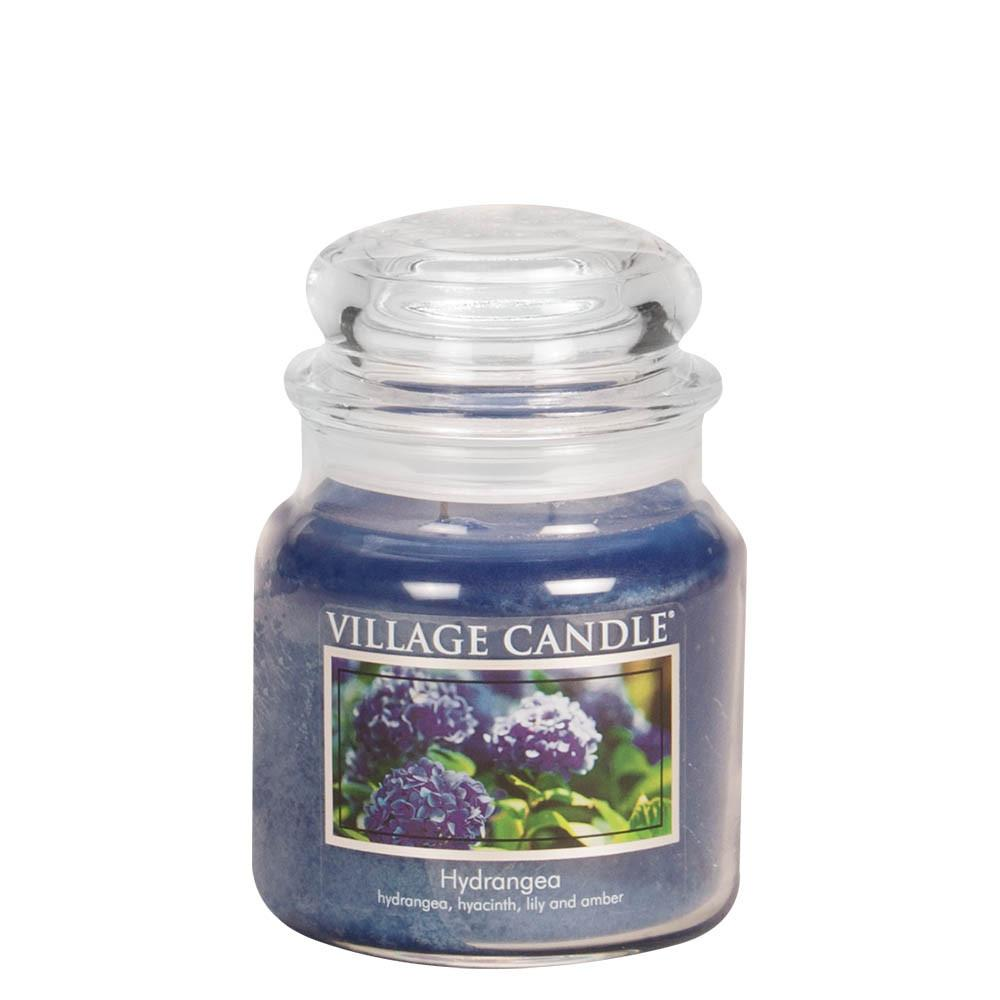Hydrangea Medium Glass Jar Traditions Scented Candle