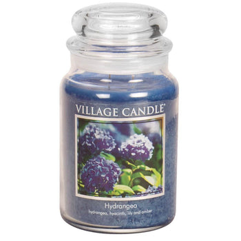 Hydrangea Large Glass Jar Traditions Scented Candle