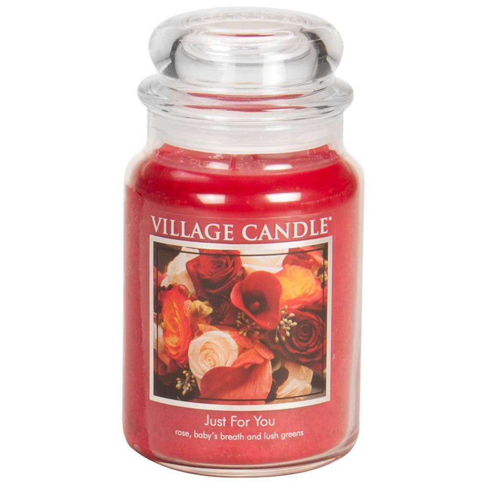 Just For You Large Glass Jar Traditions Scented Candle