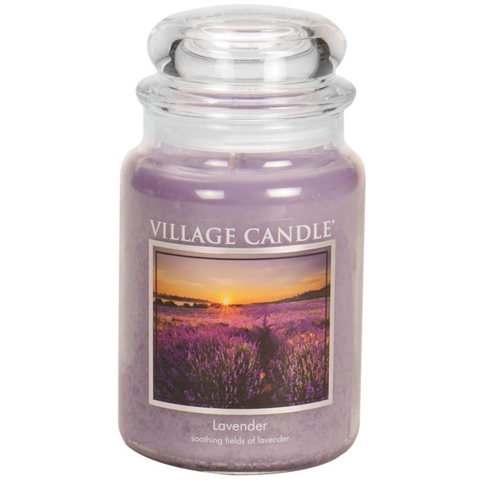 Lavender Large Glass Jar Traditions Scented Candle