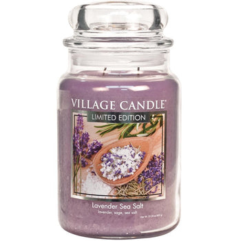 Lavender Sea Salt Large Glass Jar Limited Edition