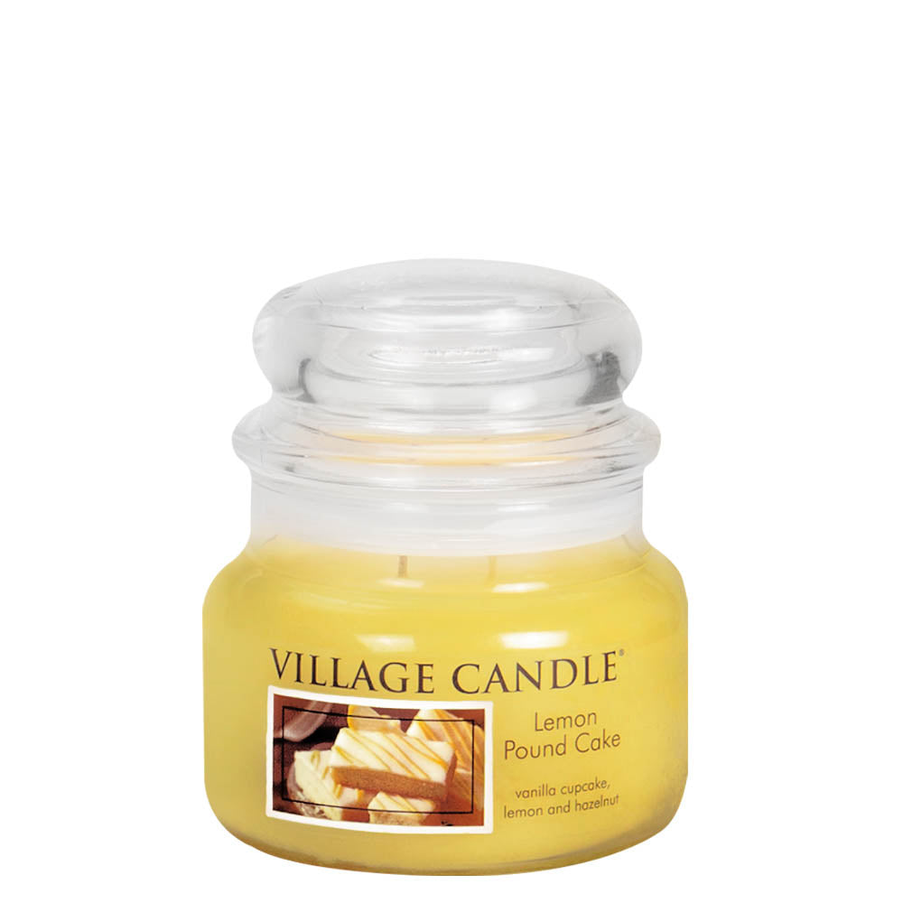 Lemon Pound Cake Small Glass Jar Traditions Scented Candle
