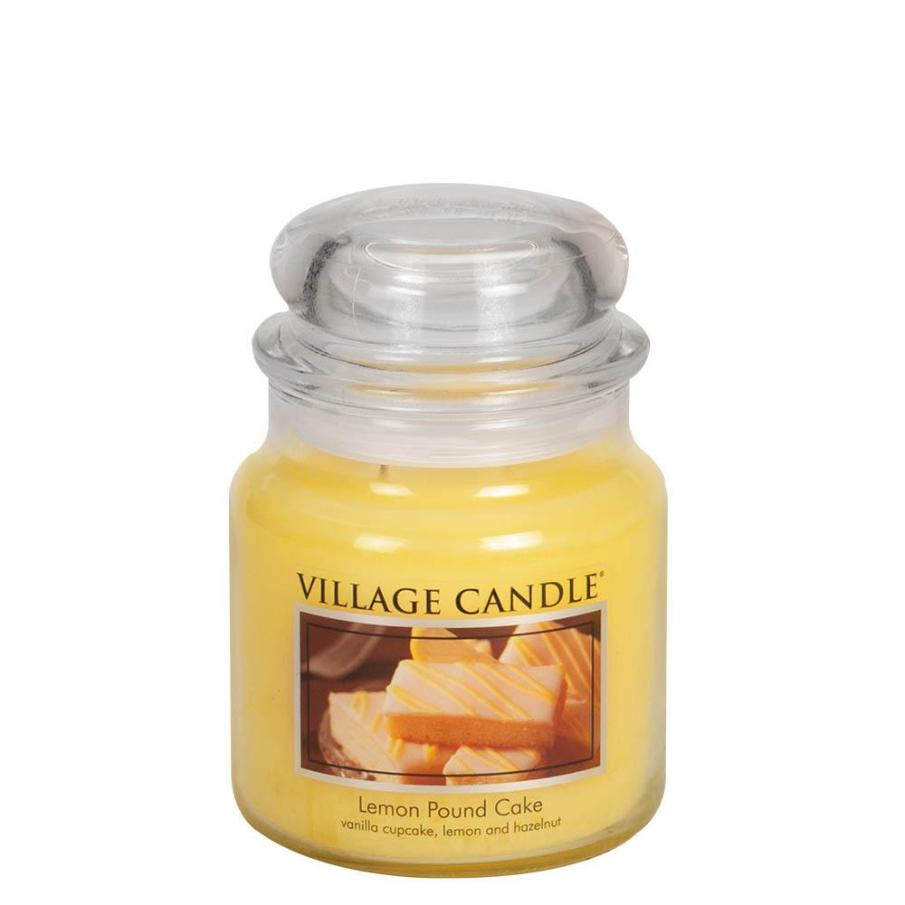 Lemon Pound Cake Medium Glass Jar Traditions Scented Candle