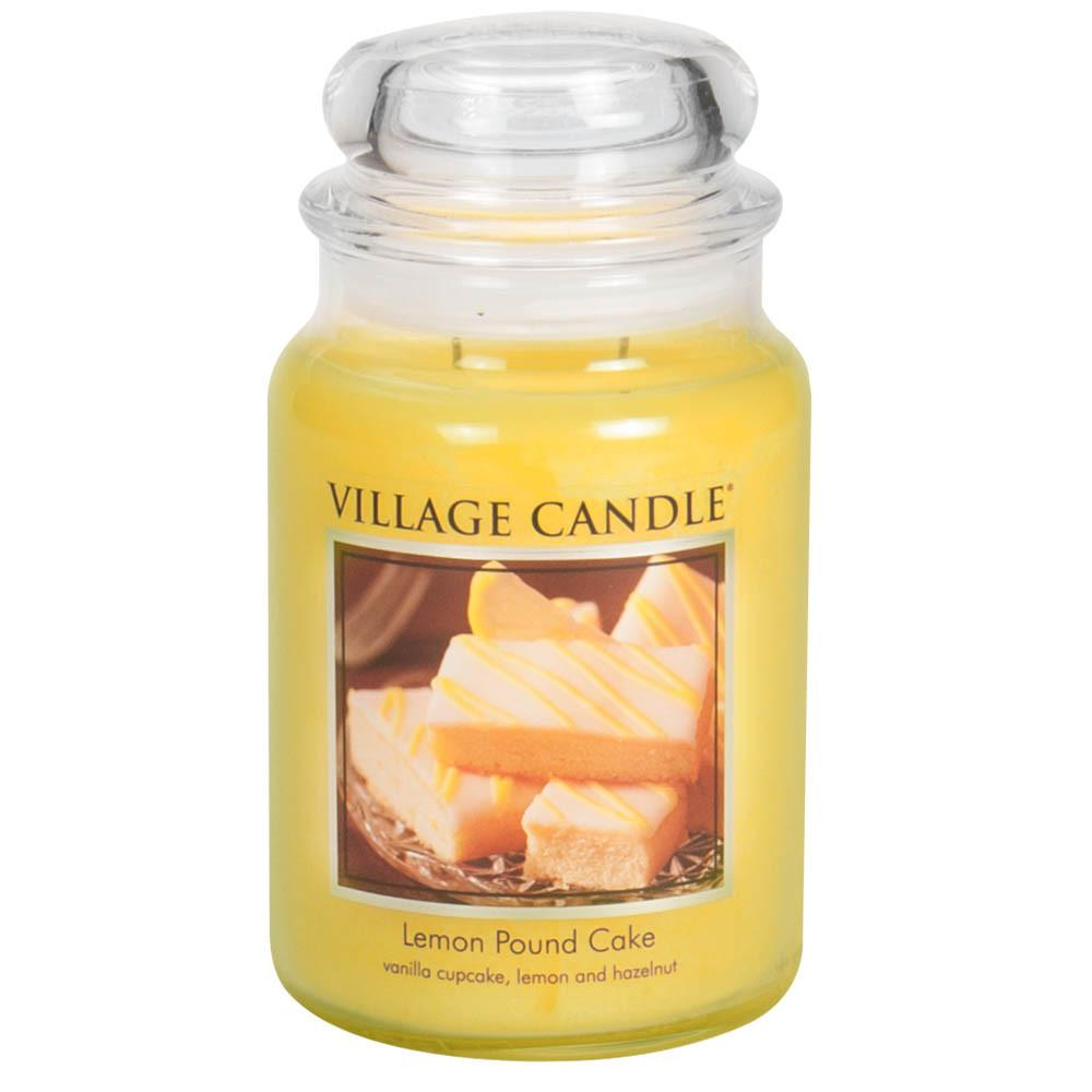 Lemon Pound Cake Large Glass Jar Traditions Scented Candle